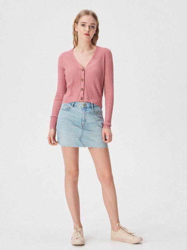 f1f3137080 Bordázott pulóver · Bordázott pulóver - rózsaszín - UW762-39X - SINSAY