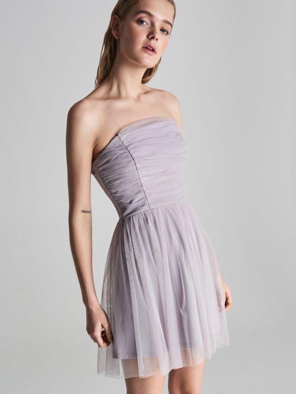bba731eed5b7 Šaty na ramienka · Zvonové šaty - svetlošedá - VP401-09X - SINSAY