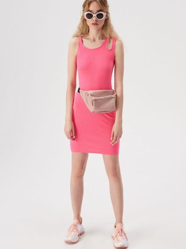 ad796e541f Sukienka z ozdobnym ramiączkiem · Sukienka z ozdobnym ramiączkiem - różowy  - VV753-30F - SINSAY