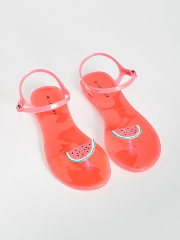 8815cebf4e99 Sandále s aplikáciou v tvare ovocia · Sandále s aplikáciou v tvare ovocia -  oranžová - VX346-32X - SINSAY
