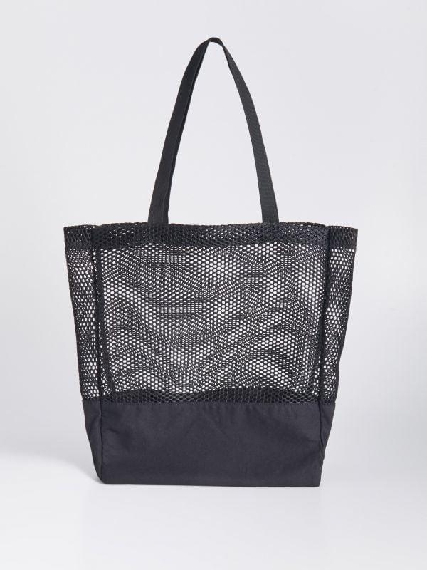 14be1a3f67e8 Сумка на плечо с заклепками · Сетчатая сумка-шопер - Черный - VZ271-99X -  SINSAY