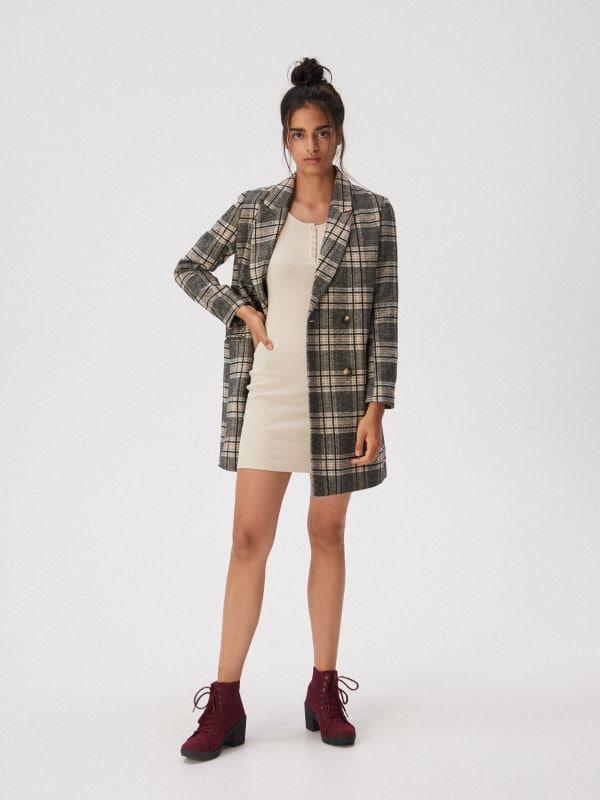 2a9eb483c3a95d Sukienka bluza z kapturem · Dopasowana sukienka mini - beżowy - WD581-08X -  SINSAY