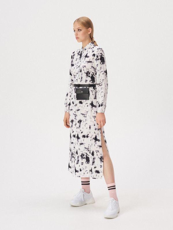 9ed487da68819f Koszulowa sukienka ze wzorem · Koszulowa sukienka ze wzorem - biały -  WD594-00X - SINSAY