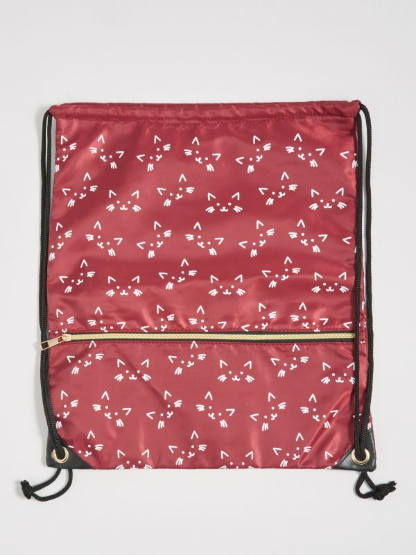 cabc4692e Plecak worek z kocim motywem · Plecak worek w koty - bordowy - WR580-83X -  SINSAY